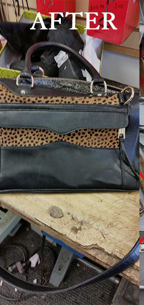 Animal Print Purse After Repair